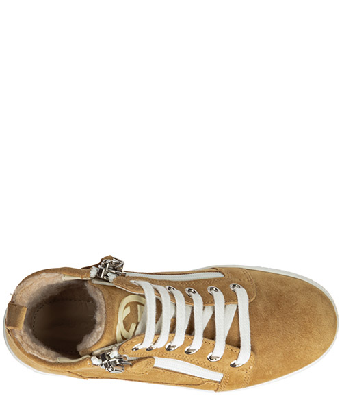 Boys shoes child sneakers high top suede leather secondary image