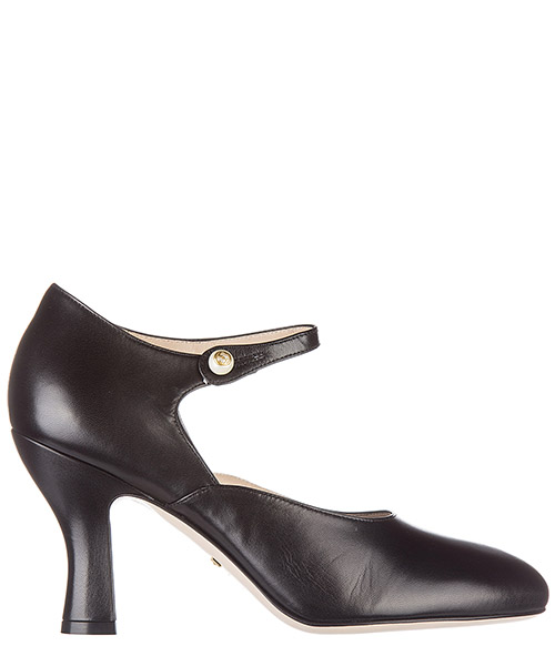 Women's leather pumps court shoes high heel malga kid