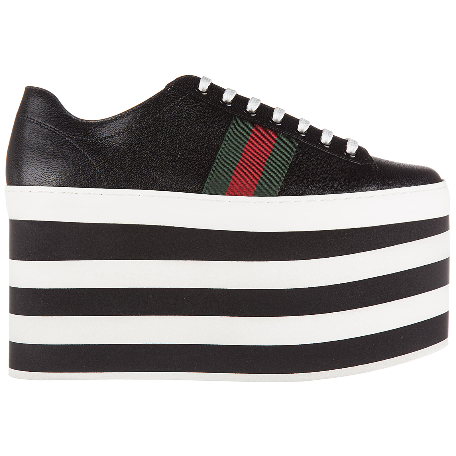 Scarpe sneakers donna in pelle quentin plateau