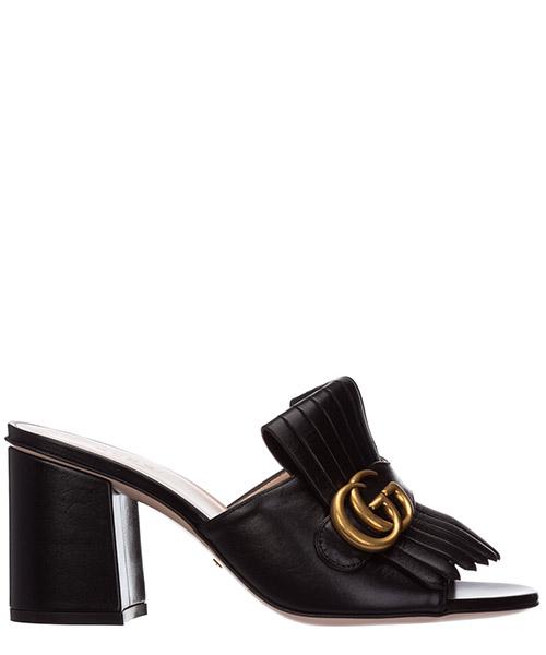 Mule Gucci doppia g 453495 C9D00 1000 nero