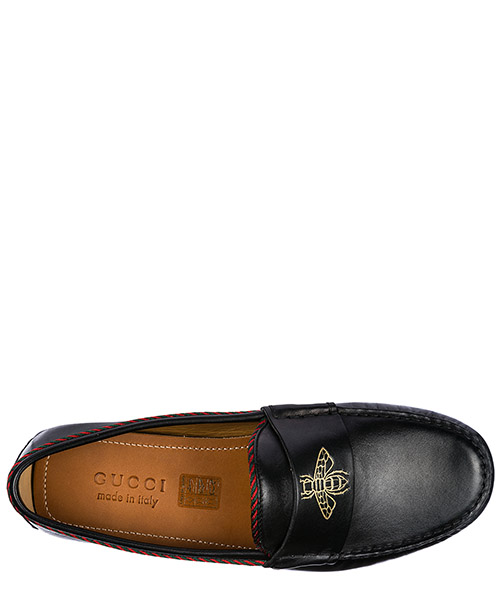 Men's leather loafers moccasins secondary image