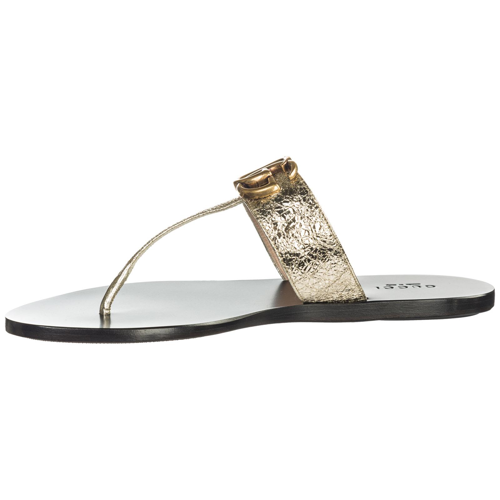 4b8ef803d ... Mujer zapatillas sandalias chanclas en piel doppia g ...