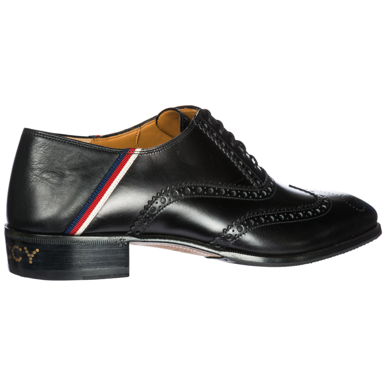 a433545233e Gucci Men s classic leather lace up laced formal shoes brogue sylvie web
