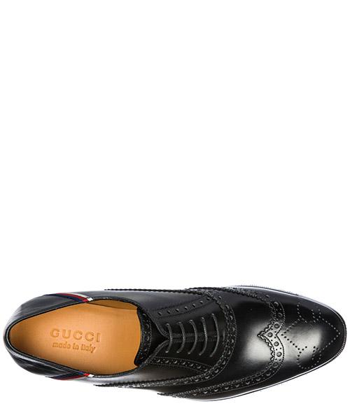 Clásico zapatos de cordones hombres en piel brogue sylvie web secondary image