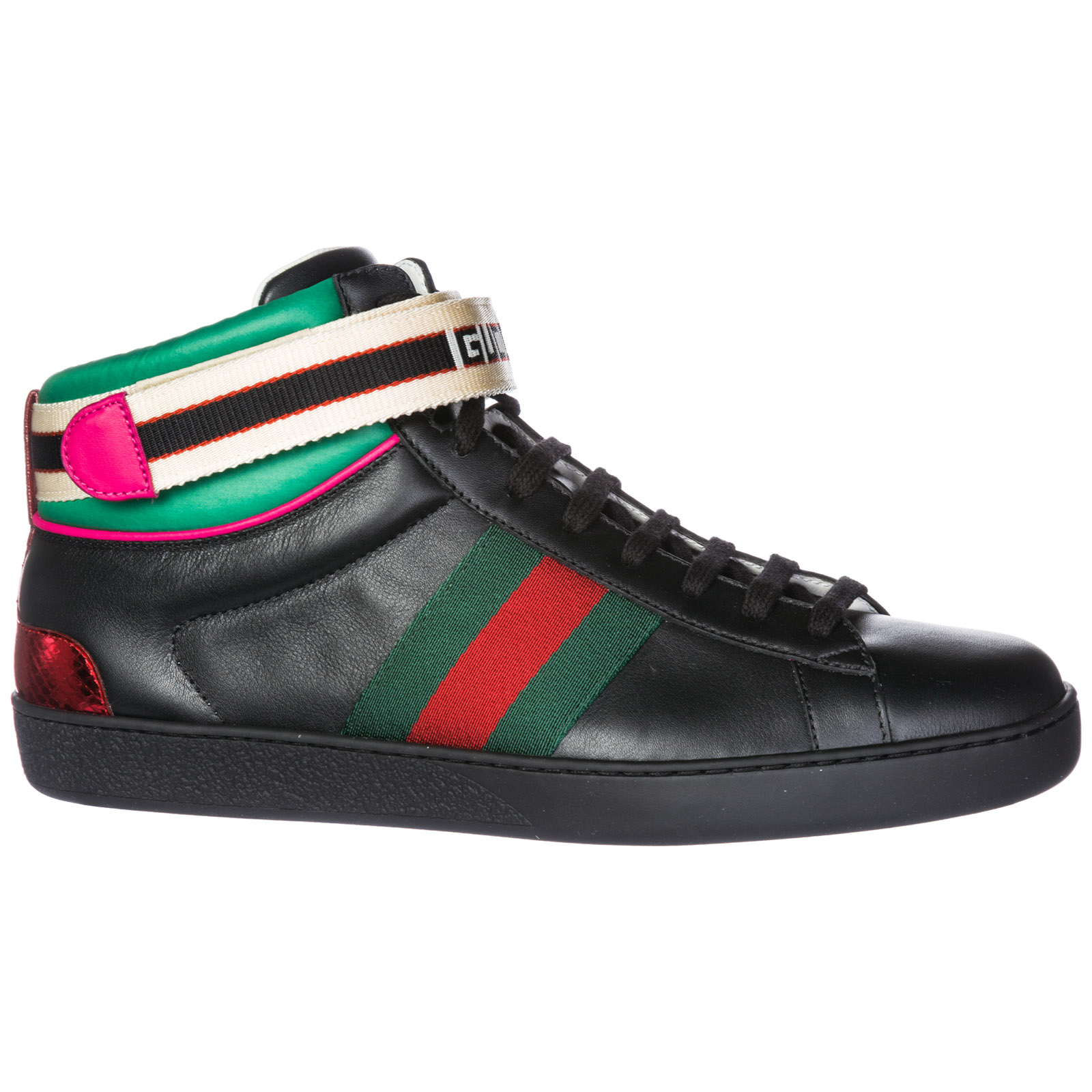 Baskets hautes Gucci Ace 523472 0FIW0 1079 nero   FRMODA.com 39b3c2d668c