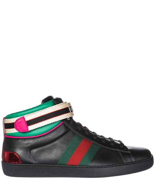 Baskets hautes Gucci Ace 523472 0FIW0 1079 nero
