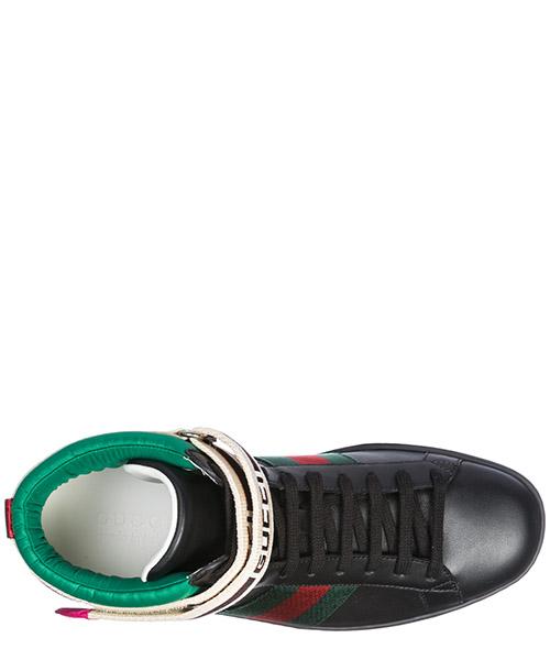 Chaussures baskets sneakers hautes homme en cuir ace secondary image