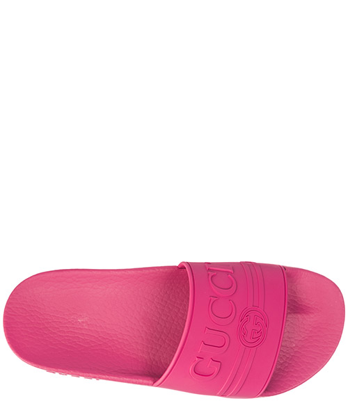 Women's rubber slippers sandals logo secondary image
