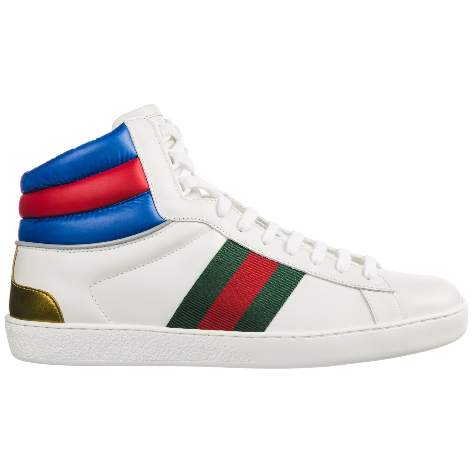 Sneakers alte Gucci Ace 548689 0RDQ0 9060 bianco  ab8af2de566