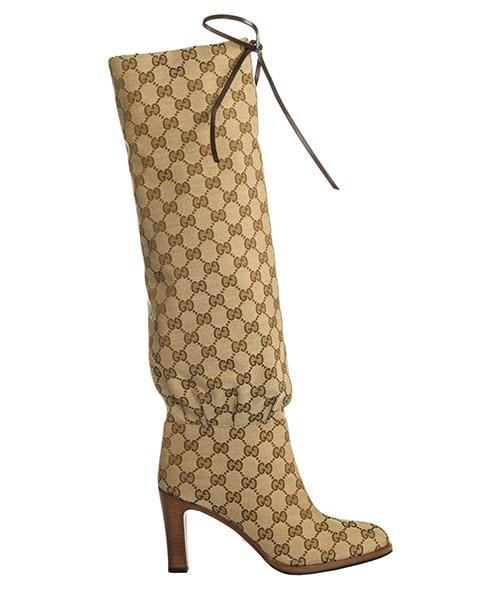 Hohe Stiefel Gucci --- 551149 KY9V0 9770 beige - ebony