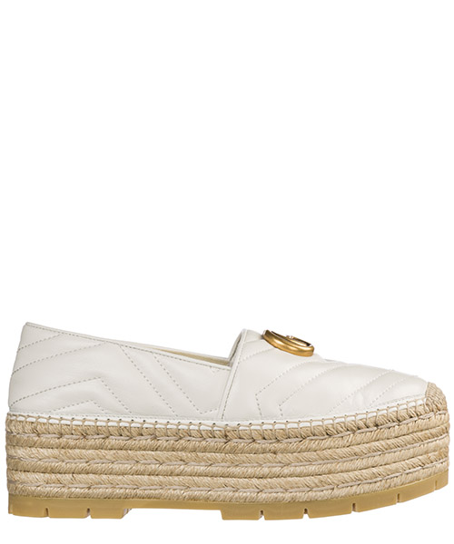 Espadrilles avec coin Gucci 551884 BKO00 9014 great white
