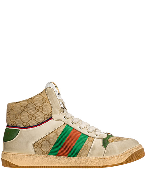 High-top sneakers Gucci Screener 563730 9Y9P0 9661 beige