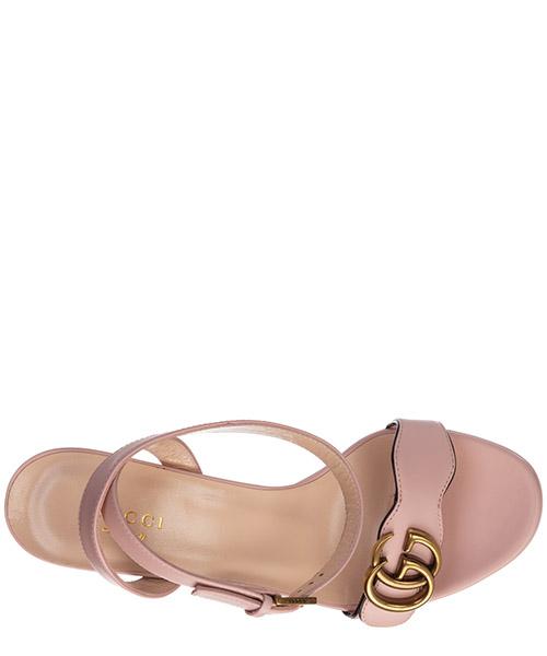 Damen leder sandalen mit absatz sandaletten doppia g secondary image