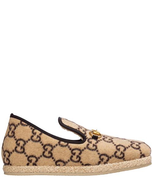 Moccasins Gucci logo gg 574845 g3810 9766 beige