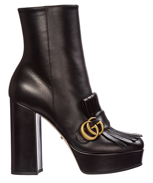 Heeled ankle boots Gucci gg marmont 577217 c9d00 1000 nero
