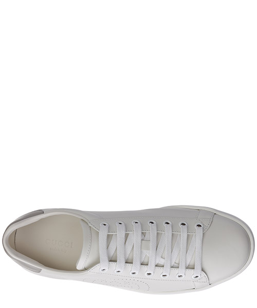 Women's shoes leather trainers sneakers ace gg secondary image