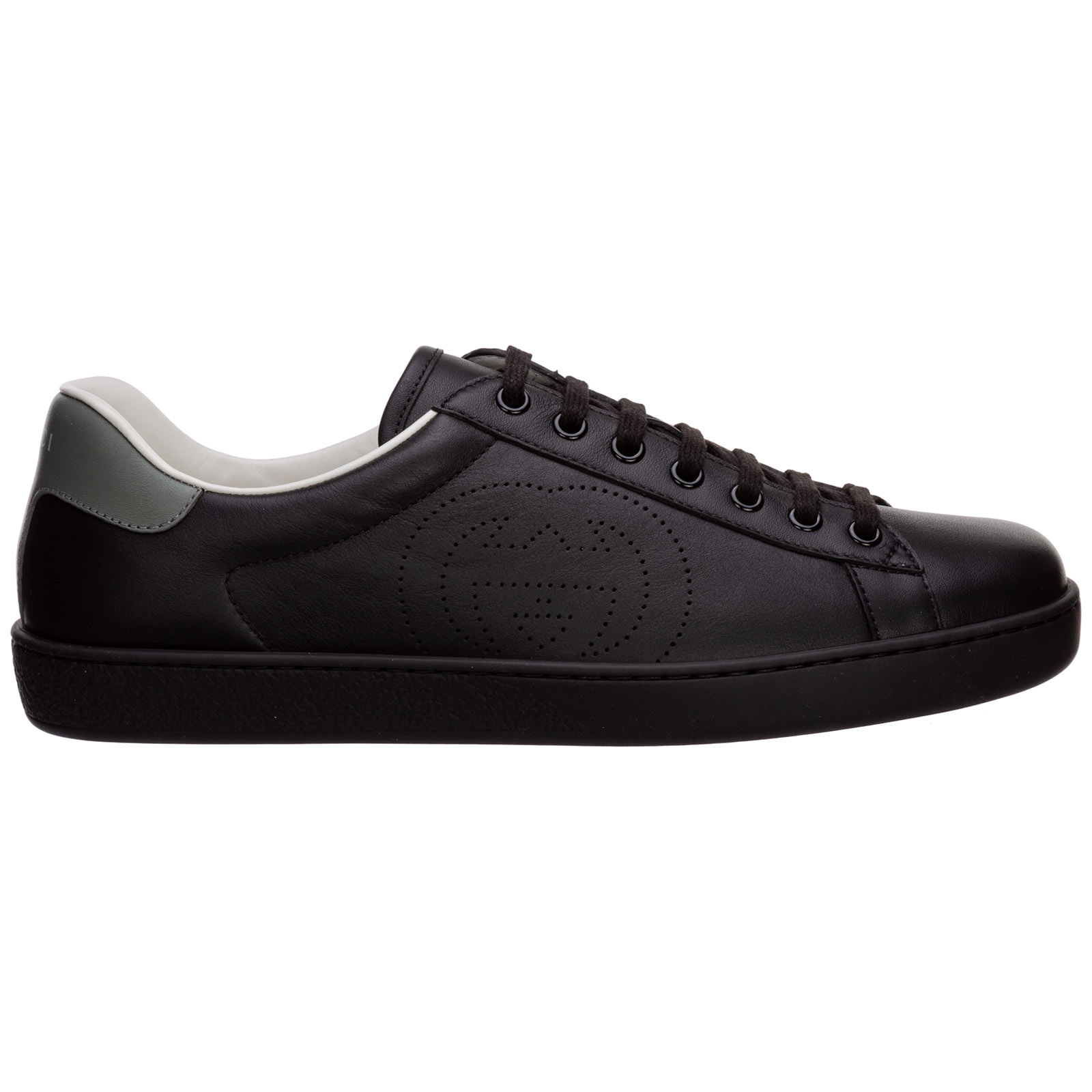 Gucci MEN'S SHOES LEATHER TRAINERS SNEAKERS ACE GG