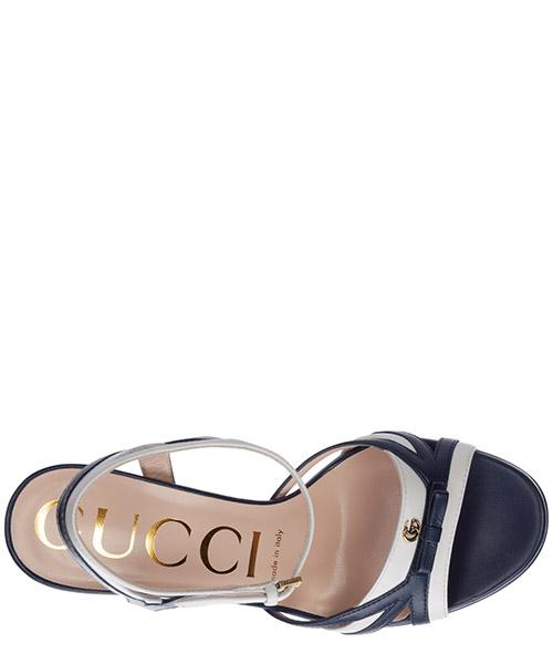 Women's leather heel sandals secondary image