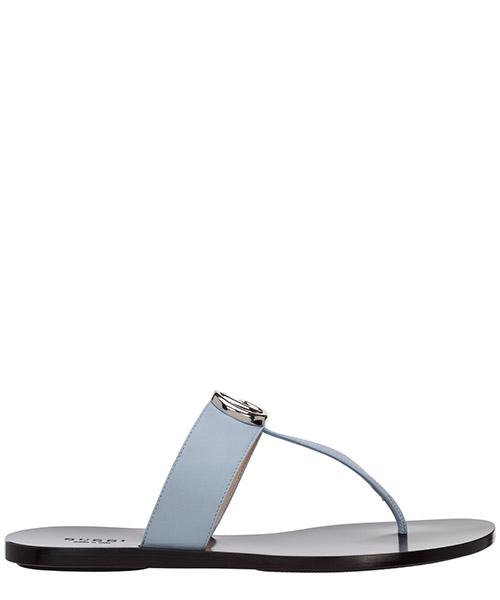 T-bar sandals Gucci 628013A3N004928 porcelain light blue