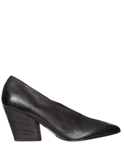 Women's leather pumps court shoes high heel rouge 01
