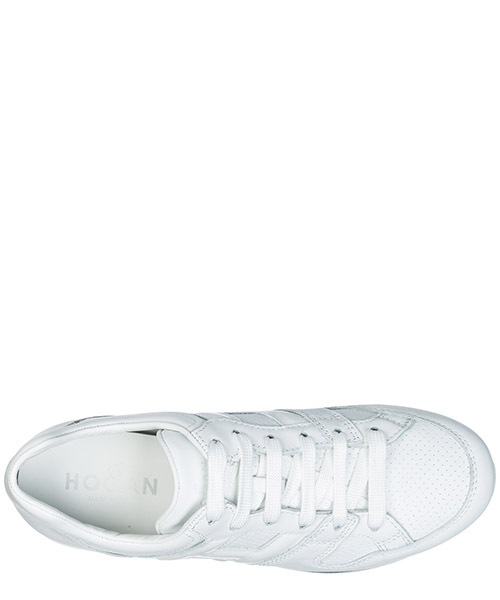 Women's shoes leather trainers sneakers h407 maxi secondary image