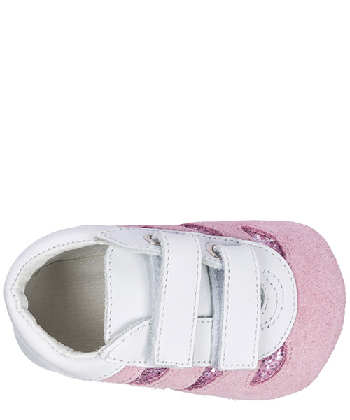 Girls shoes baby child sneakers camoscio olympia secondary image
