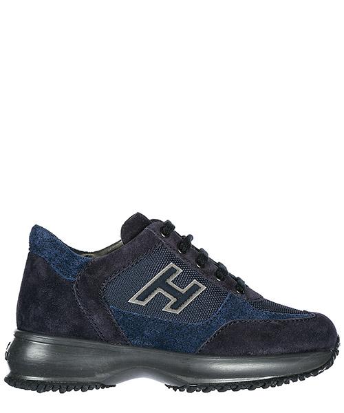 Chaussures baskets sneakers garçon en daim interactive h flock