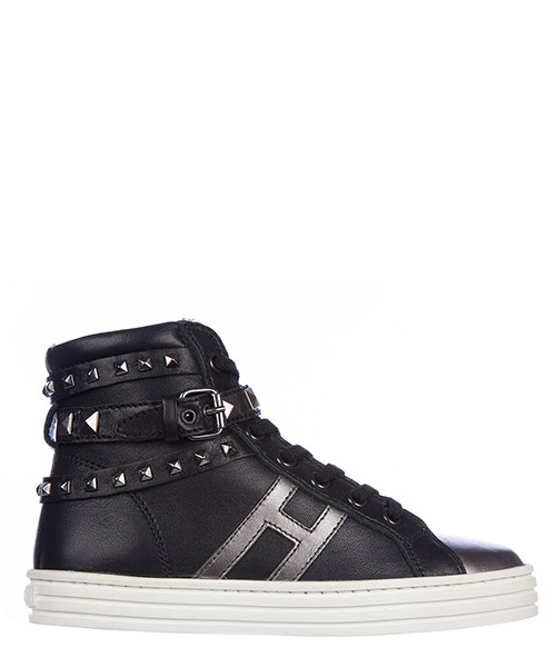 High top sneakers Hogan R141 HXC1410L6704PS0564 nero
