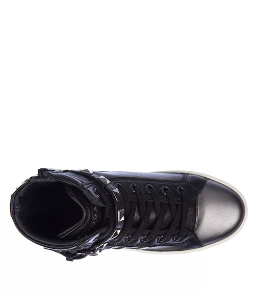 Girls shoes child leather sneakers rebel secondary image