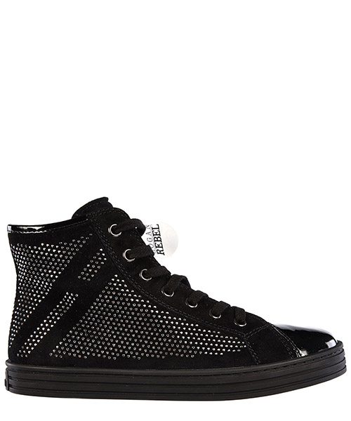 High top sneakers Hogan R141 HXC1410P50055OB999 nero