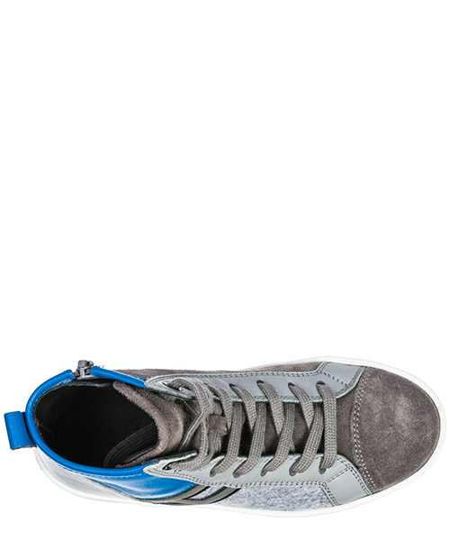 Boys shoes child sneakers alte camoscio r141 secondary image