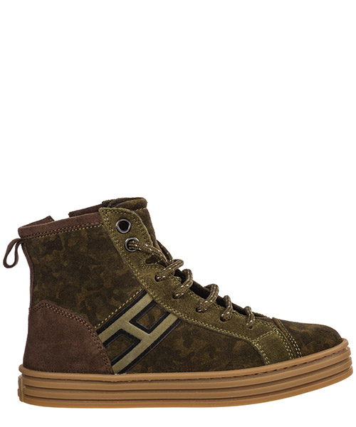 High-top sneakers Hogan R141 HXC1410Z450HCU9AZ9 verde