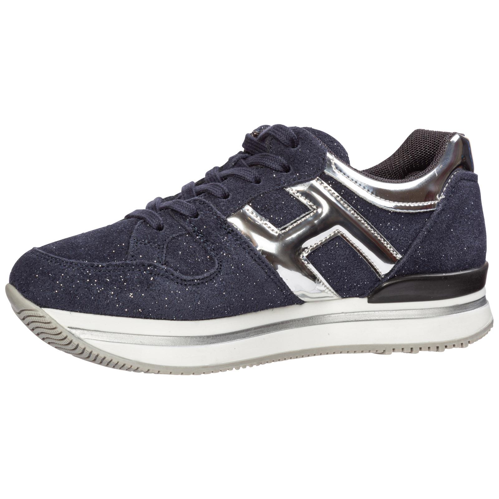 Scarpe sneakers bambina camoscio h222