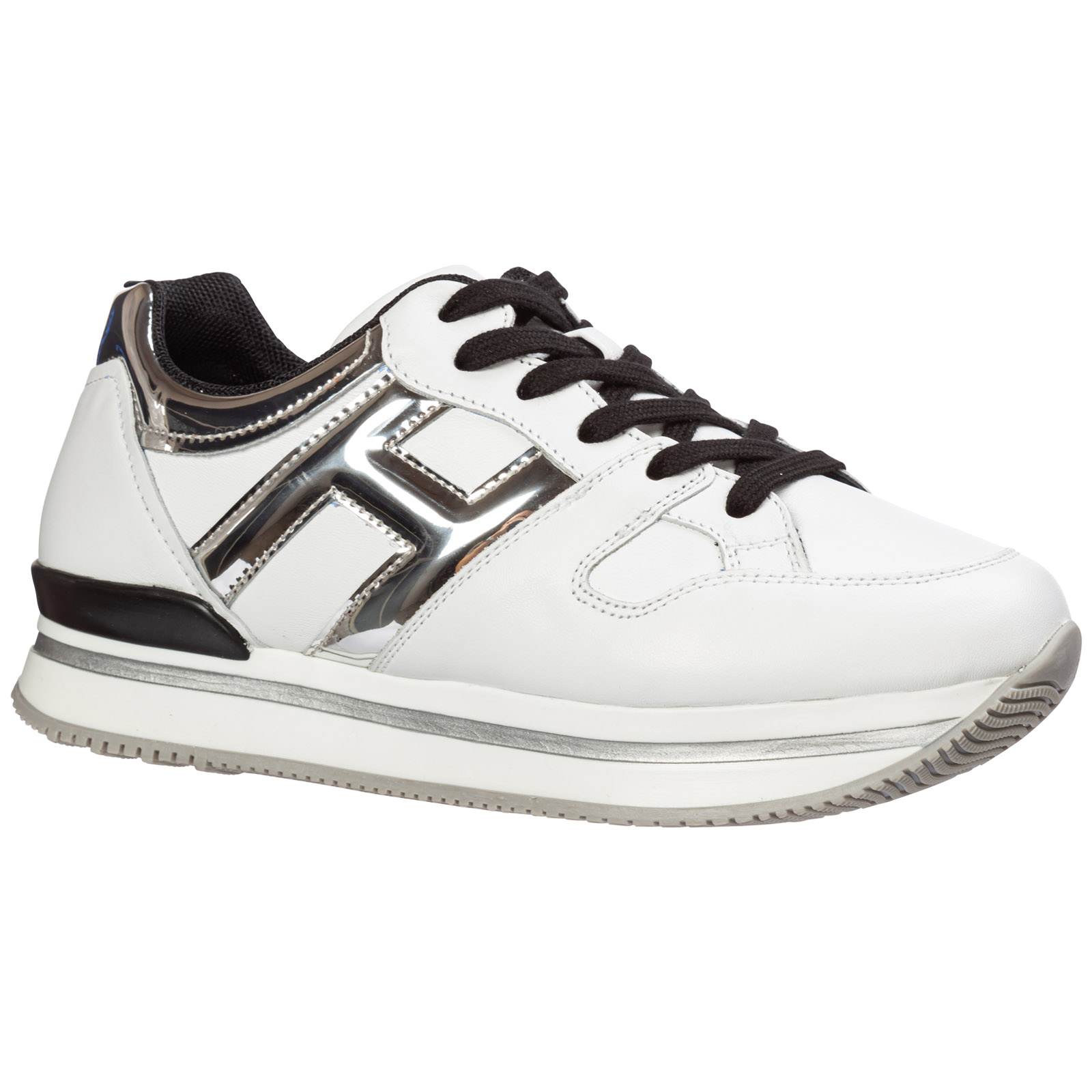Scarpe sneakers bambina pelle h222