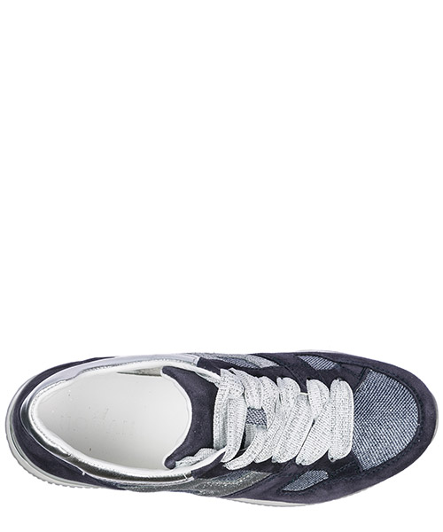 Chaussures baskets sneakers filles en daim h222 secondary image