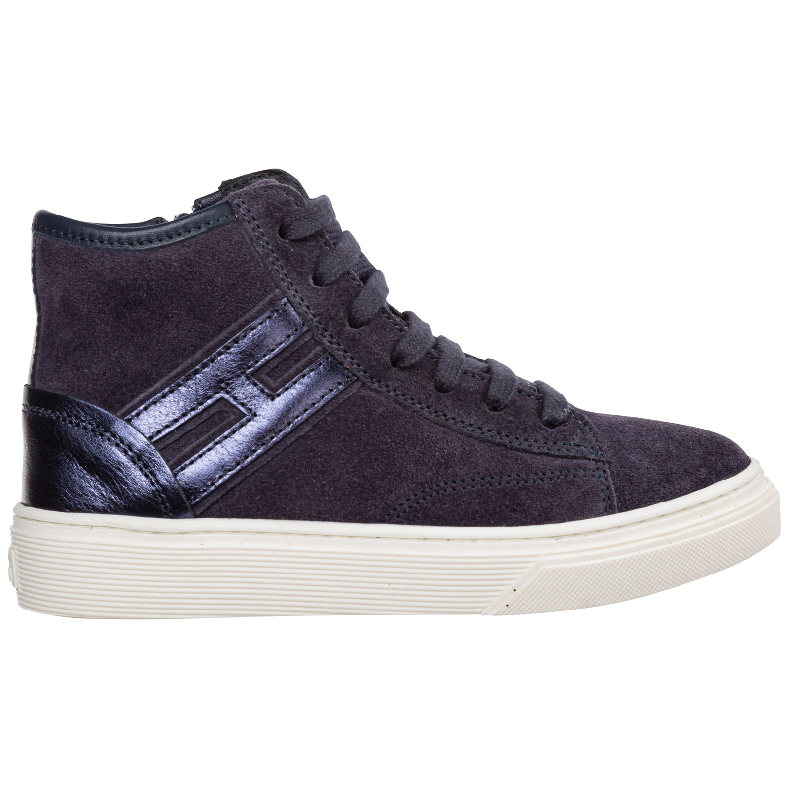 Hogan Sneakers BOYS SHOES BABY CHILD HIGH TOP SNEAKERS SUEDE J340