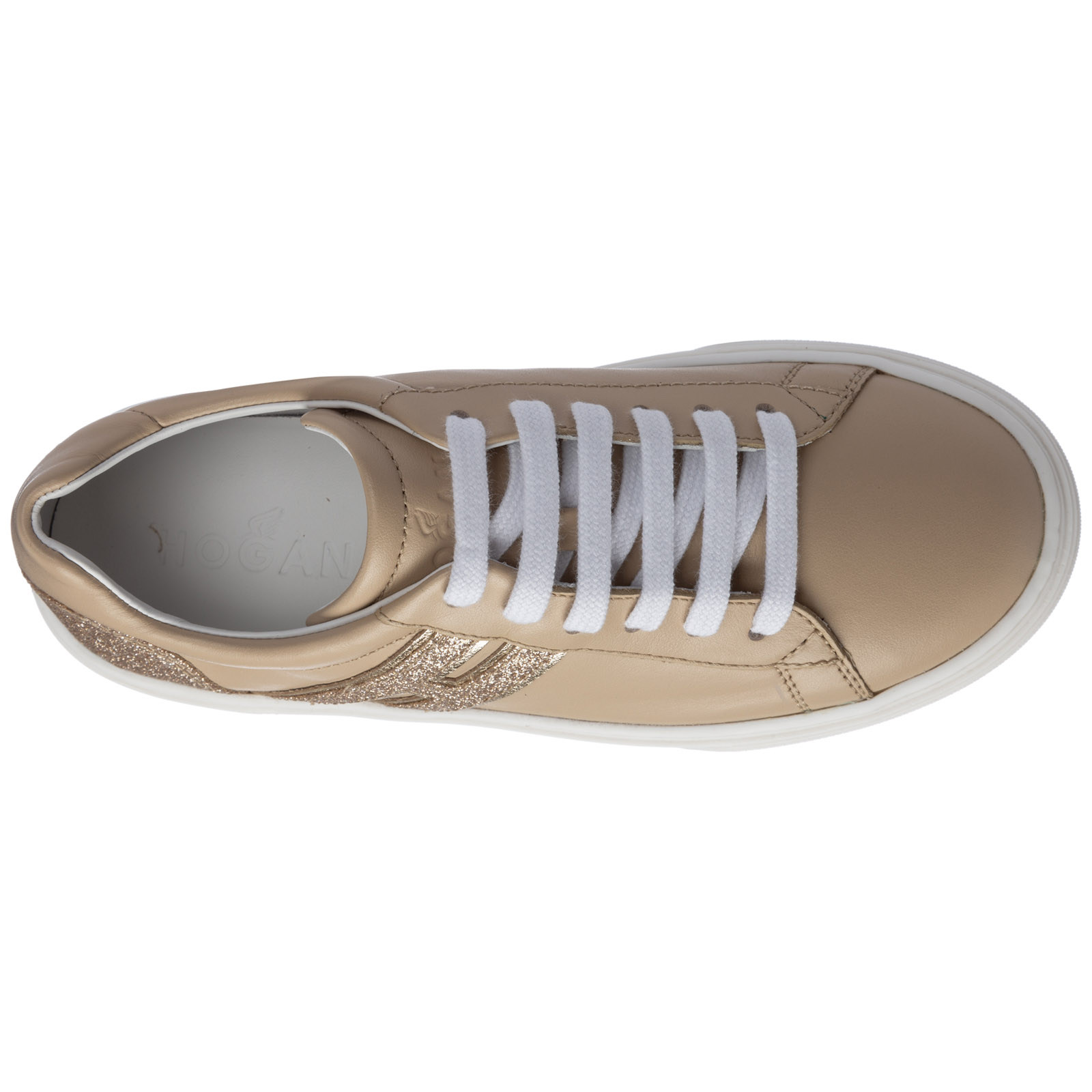 Scarpe sneakers bimba bambina pelle j340
