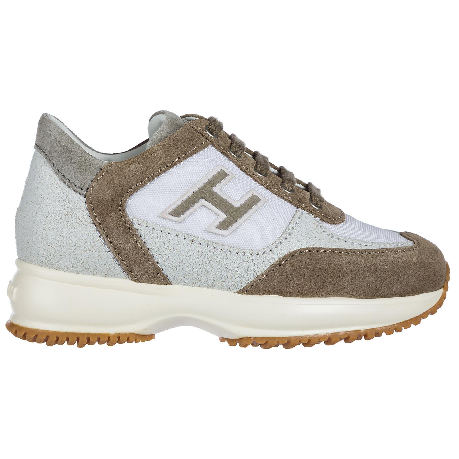 Hogan Boys shoes baby child sneakers camoscio interactive h flock c77aa48e6ef