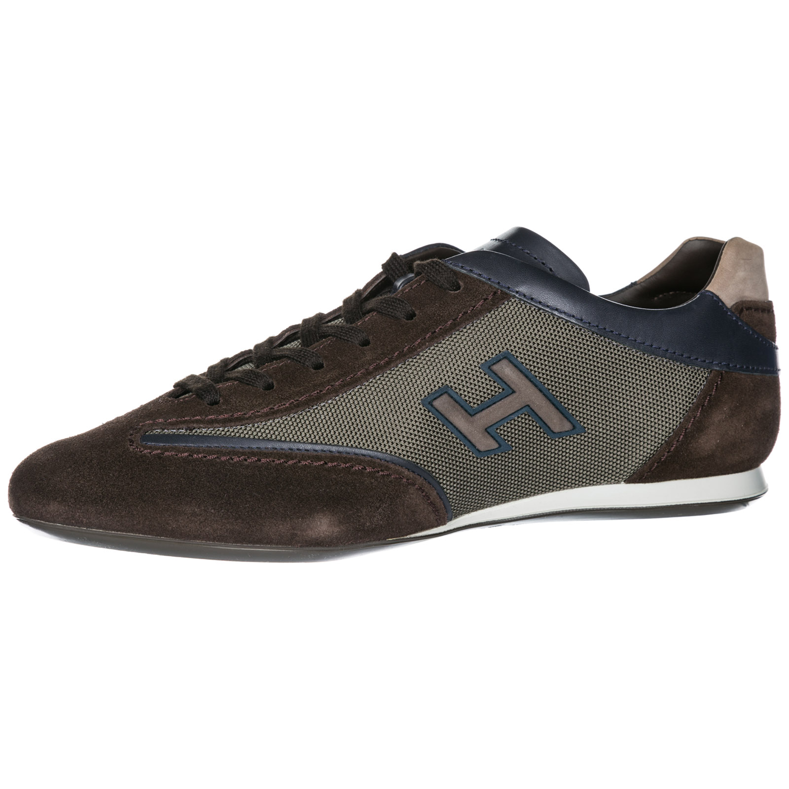 Men's shoes suede trainers sneakers olympia h flock