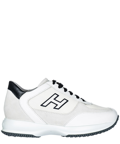 Men's shoes leather trainers sneakers interactive h flock