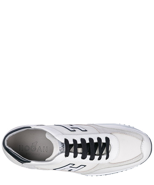 Men's shoes leather trainers sneakers interactive h flock secondary image