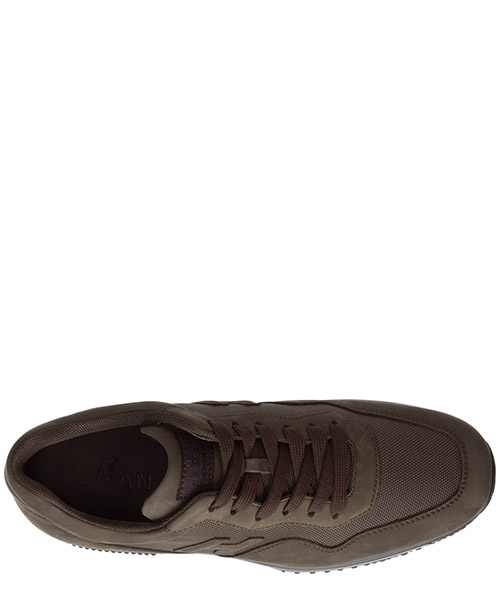 Men's shoes leather trainers sneakers interactive secondary image