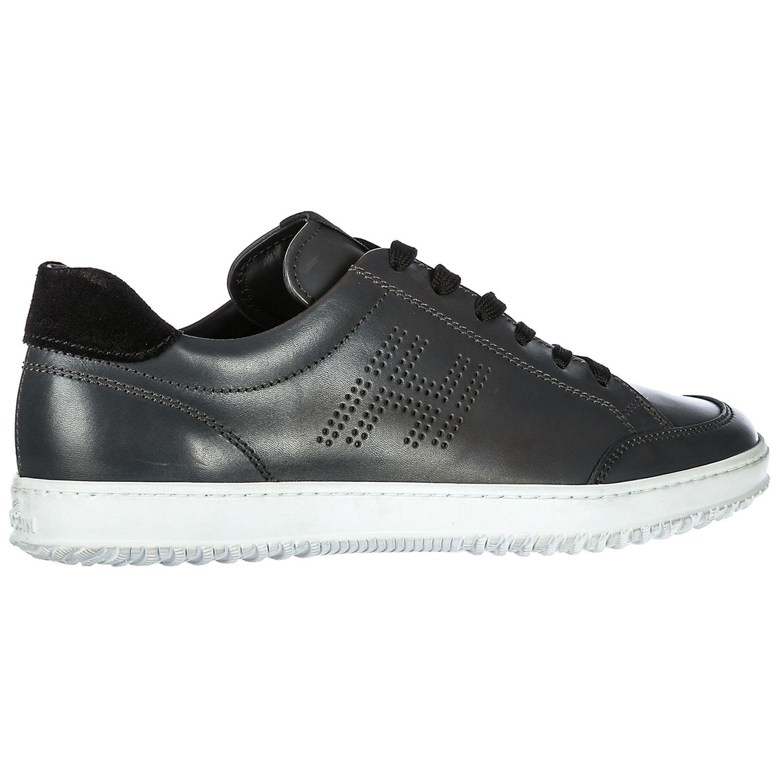 ... Scarpe sneakers uomo in pelle h168 h forata ... d29c3f3078b