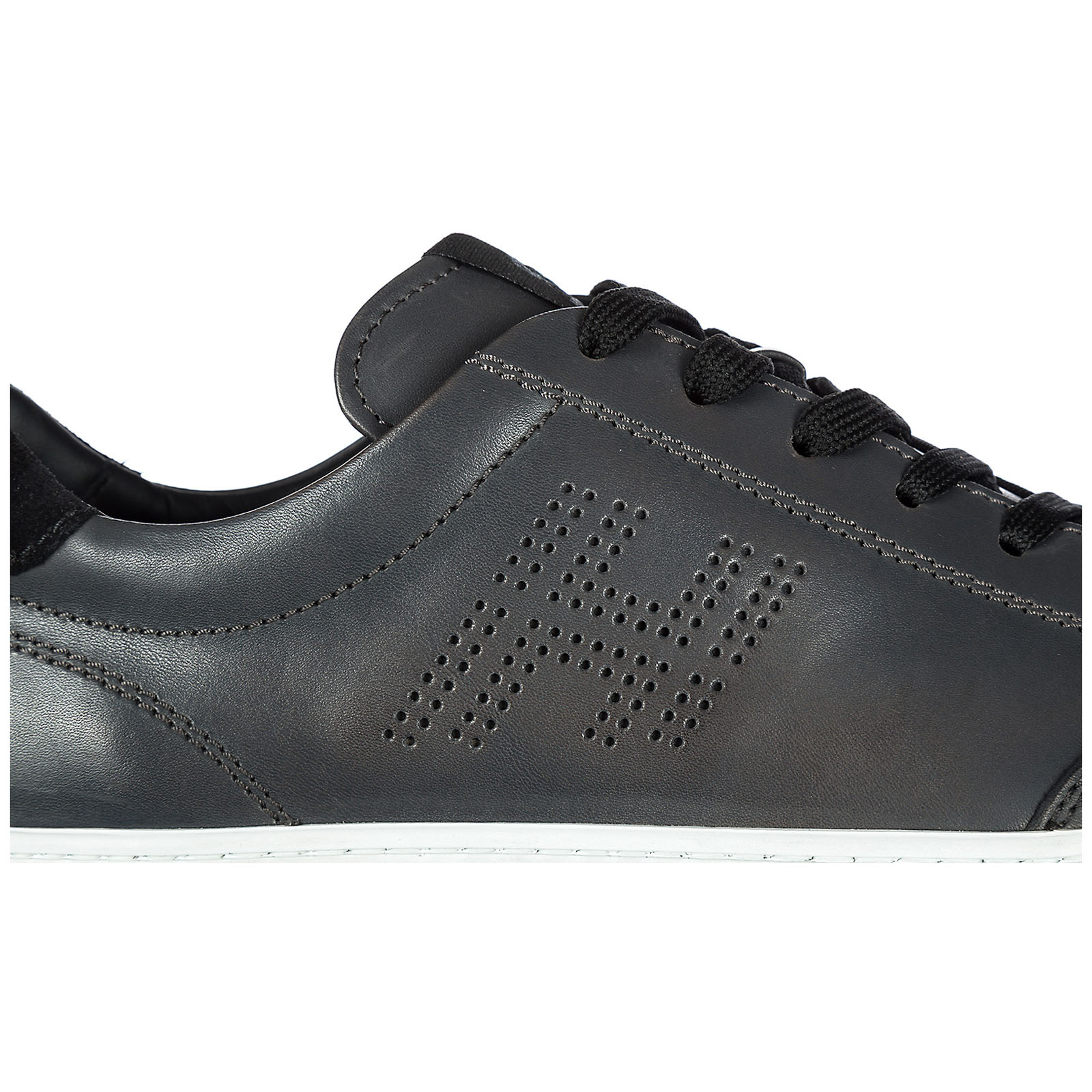 ... Scarpe sneakers uomo in pelle h168 h forata 183ed5076a3