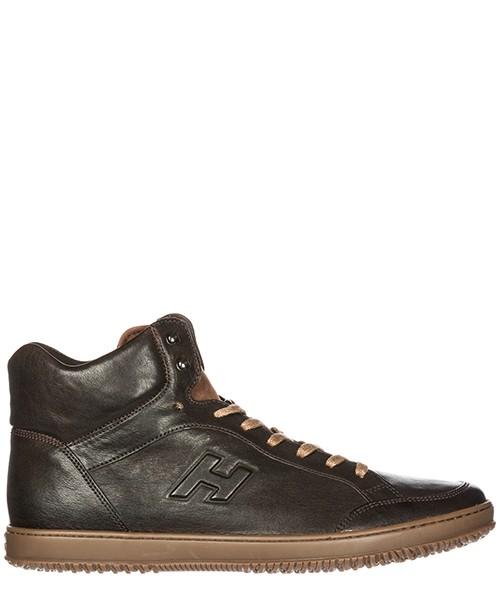 Sneakers alte Hogan HXM1680B7406W4147M castagna ebano