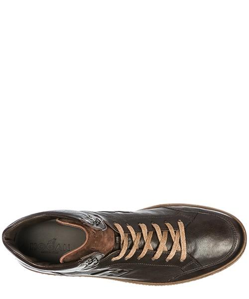 Scarpe sneakers alte uomo in pelle h168 derby mid cut secondary image