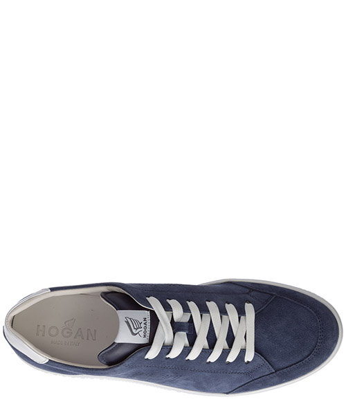 Men's shoes suede trainers sneakers h168 secondary image