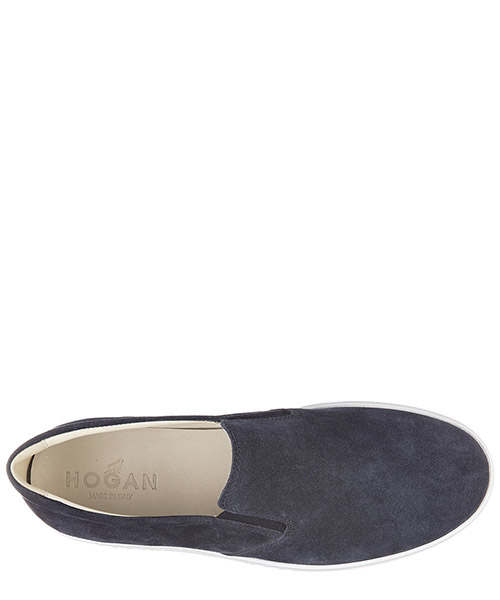 Slip on uomo in camoscio sneakers  h168 secondary image