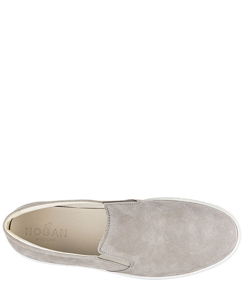 Slip on uomo in camoscio sneakers  r141 secondary image