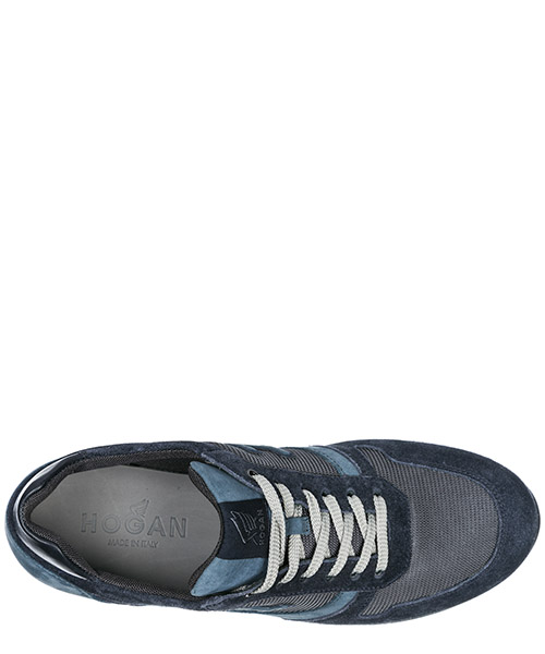 Men's shoes suede trainers sneakers h198 secondary image